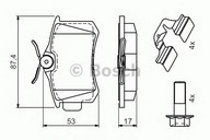Set placute frana, frana disc BOSCH 0 986 494 596