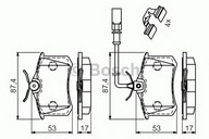Set placute frana, frana disc BOSCH 0 986 494 599