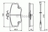 Set placute frana, frana disc BOSCH 0 986 495 212