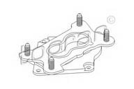 Flansa carburator TOPRAN 100 961