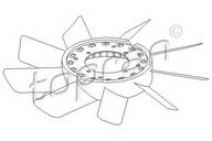 Paleta ventilator, racire motor TOPRAN 500 899