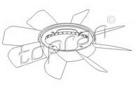 Paleta ventilator, racire motor TOPRAN 500 902
