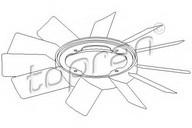 Paleta ventilator, racire motor TOPRAN 500 903