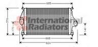 Intercooler, compresor VAN WEZEL 09004081