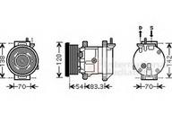 Compresor, climatizare VAN WEZEL 8100K071