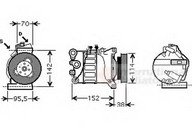 Compresor, climatizare VAN WEZEL 5900K143