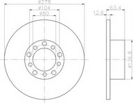 Disc frana TEXTAR 92009500