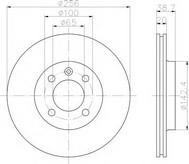 Disc frana TEXTAR 92036803