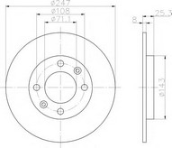 Disc frana TEXTAR 92055003