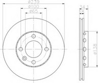 Disc frana TEXTAR 92072003