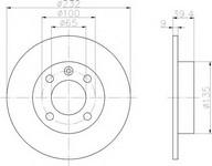 Disc frana TEXTAR 92098203