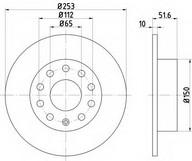 Disc frana TEXTAR 92120900