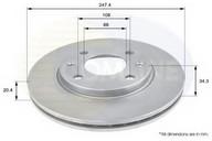 Disc frana COMLINE ADC1506V