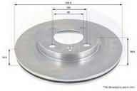 Disc frana COMLINE ADC1404V