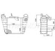 Intercooler, compresor THERMOTEC DAW006TT