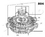 Cupla, ventilator radiator JAPKO 36804