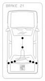 Cablu frana de parcare COFLE 11.5935