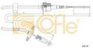 Cablu ambreiaj COFLE 632.10