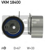 Rola intinzator, curea distributie SKF VKM 18400