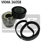 Set curea transmisie cu caneluri SKF VKMA 36058