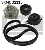Pompa apa+set curea transmisie cu caneluri SKF VKMC 31115