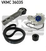 Pompa apa+set curea transmisie cu caneluri SKF VKMC 36035