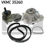 Pompa apa+set curea transmisie cu caneluri SKF VKMC 35260