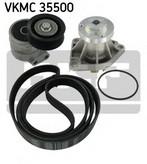 Pompa apa+set curea transmisie cu caneluri SKF VKMC 35500
