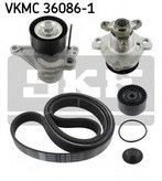 Pompa apa+set curea transmisie cu caneluri SKF VKMC 36086-1