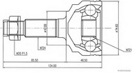 Set articulatie, planetara HERTH BUSS JAKOPARTS J2826023