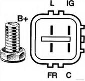 Generator/alternator HERTH BUSS JAKOPARTS J5114025