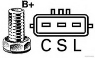 Generator/alternator HERTH BUSS JAKOPARTS J5117024