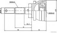 Set articulatie, planetara HERTH BUSS JAKOPARTS J2821014