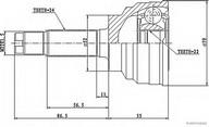 Set articulatie, planetara HERTH BUSS JAKOPARTS J2823000