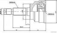 Set articulatie, planetara HERTH BUSS JAKOPARTS J2823001