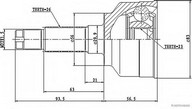 Set articulatie, planetara HERTH BUSS JAKOPARTS J2823004