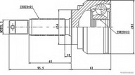 Set articulatie, planetara HERTH BUSS JAKOPARTS J2825004