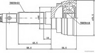 Set articulatie, planetara HERTH BUSS JAKOPARTS J2828005