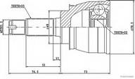 Set articulatie, planetara HERTH BUSS JAKOPARTS J2828007