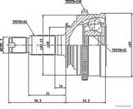 Set articulatie, planetara HERTH BUSS JAKOPARTS J2834106