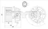 Ventilator, habitaclu TYC 505-0001