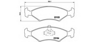 Set placute frana, frana disc BREMBO P 24 043