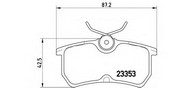 Set placute frana, frana disc BREMBO P 24 047
