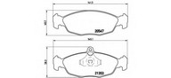 Set placute frana, frana disc BREMBO P 59 011