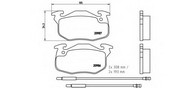 Set placute frana, frana disc BREMBO P 61 044
