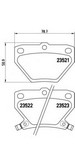 Set placute frana, frana disc BREMBO P 83 052