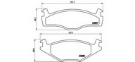 Set placute frana, frana disc BREMBO P 85 012