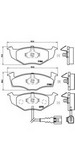 Set placute frana, frana disc BREMBO P 85 071