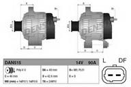 Generator/alternator DENSO DAN515