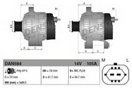 Generator/alternator DENSO DAN584